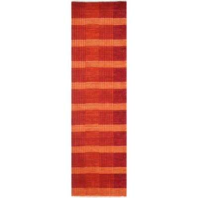 Apple Creek Hand-Knotted Red Area Rug Rug Size: Runner 2' x 8'