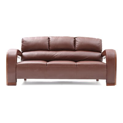 Troy Modern Sofa Color: Brown
