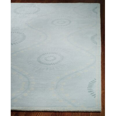 Ogee Hand-Loomed Blue Area Rug Rug Size: Rectangle 4 x 6