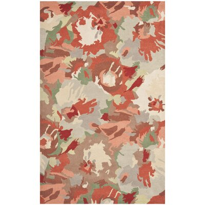 Whirwind Hand-Loomed Red/Green Area Rug Rug Size: Runner 23 x 8