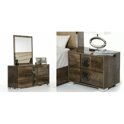 Armadale 3 Drawer Dresser with 2 Nightstands