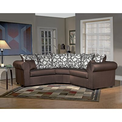 Lila Sectional Body Fabric: Sum Plain Choclate/Vision Lines Chocolate