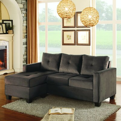 St Catherine Reversible Sectional Upholstery: Gray