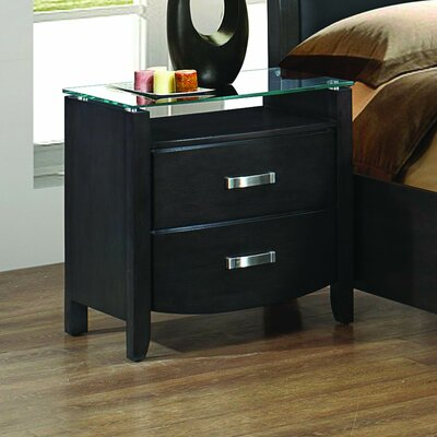 Lucy 2 Drawer Nightstand
