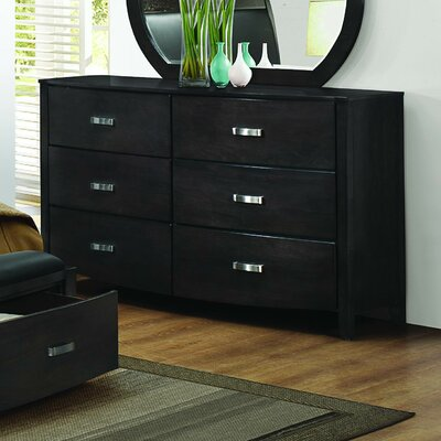 Lucy 6 Drawer Double Dresser
