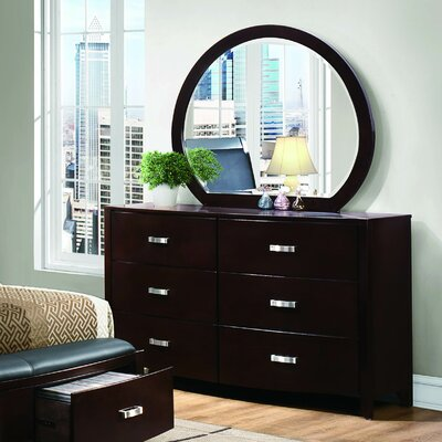 Herring 6 Drawer Dresser with Mirror