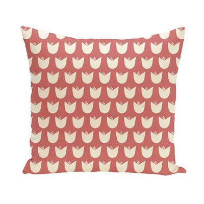 Antiope Floral Print Outdoor Pillow Color: Burnt, Size: 18 H x 18 W x 1 D