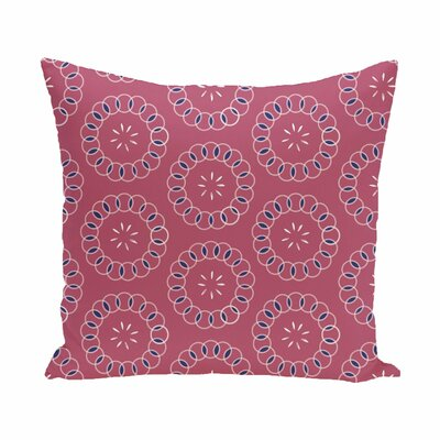 Wintergreen Floral Print Outdoor Pillow Color: Pink Cheeks, Size: 16 H x 16 W x 1 D