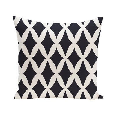 Keshawn Geometric Print Outdoor Pillow Size: 18 H x 18 W x 1 D, Color: Mahogany