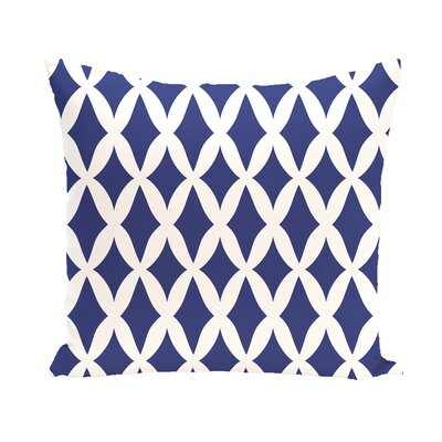 Keshawn Geometric Print Outdoor Pillow Color: Blue Suede, Size: 18 H x 18 W x 1 D