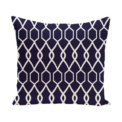Montross Geometric Print Outdoor Pillow Color: Spring Navy, Size: 18