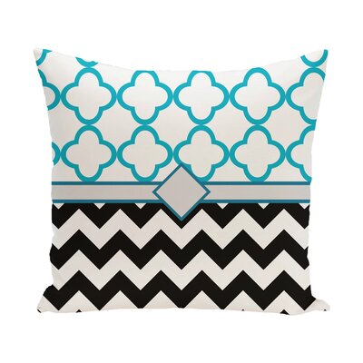 Badminton Geometric Print Outdoor Throw Pillow Color: Seed, Size: 18 H x 18 W x 1 D