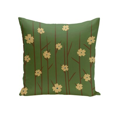 Butcombe Floral OutdoorThrow Pillow Color: Green, Size: 18 H x 18 W x 1 D