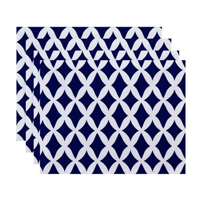 Keshawn Geometric Placemat Color: Blue Suede