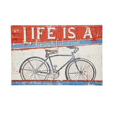 'Life is a Beautiful Ride' Framed Vintage Advertisement on Canvas