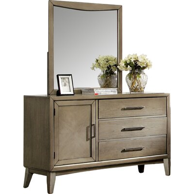 Siding Spring 3 Drawer Dresser with Mirror