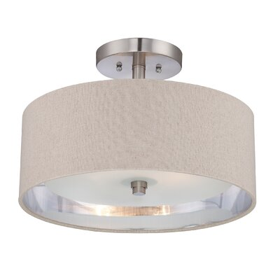 South Perth 2-Light Semi-Flush Mount