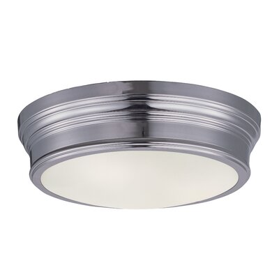 Mccraw 2-Light Flush Mount Finish: Natural Aged Brass