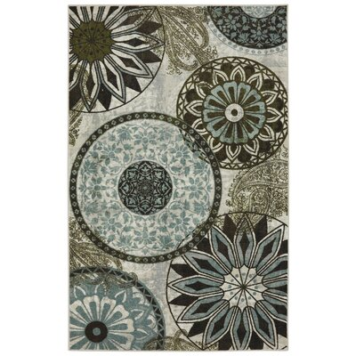 Claireville Blue Area Rug Rug Size: 5 x 7