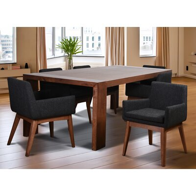 Bohostice 9 Piece Dining Set Upholstery: Licorice