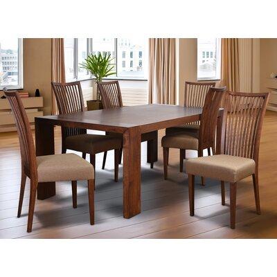 Bohostice 7 Piece Dining Set Upholstery: Latte