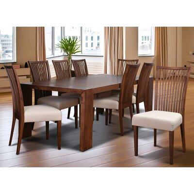 Bohostice 9 Piece Dining Set Upholstery: Latte
