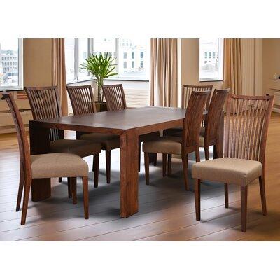 Bohostice 9 Piece Dining Set Upholstery: Khaki