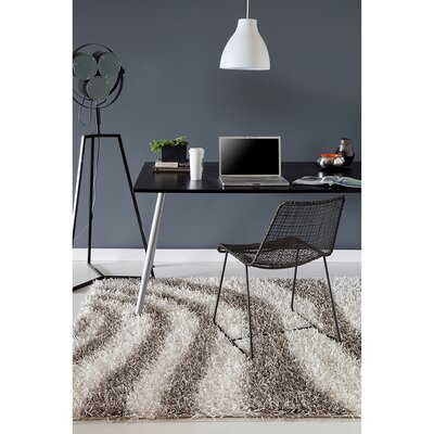 Pictor Grey/White Area Rug Rug Size: 7 x 10