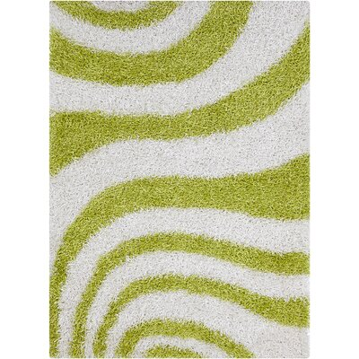 Pictor White/Green Area Rug Rug Size: 7 x 10