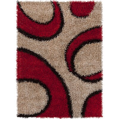 Milstead Brown/Red Area Rug Rug Size: 5 x 7