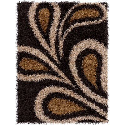 Milstead Black Area Rug Rug Size: 7' x 10'