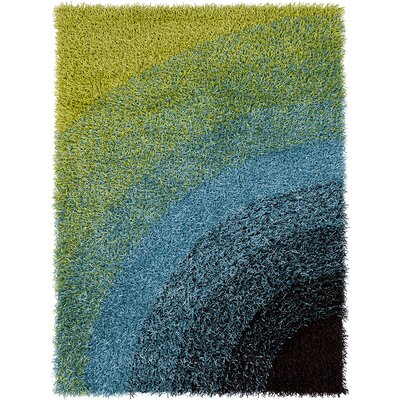 Pictor Green/Blue Area Rug Rug Size: 7 x 10