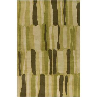 Belmont Hand Tufted Wool Green Area Rug
