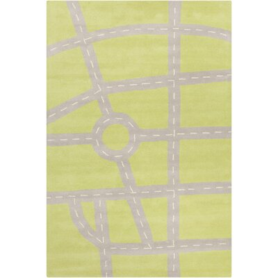 Millwood Hand Tufted Wool Green/Gray Area Rug