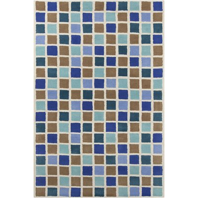Millwood Hand Tufted Wool Blue/Brown Area Rug