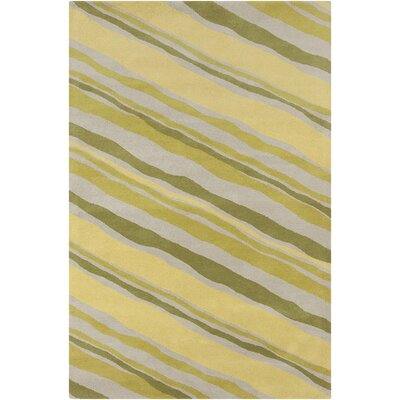 Millwood Hand Tufted Wool Green/Yellow Area Rug
