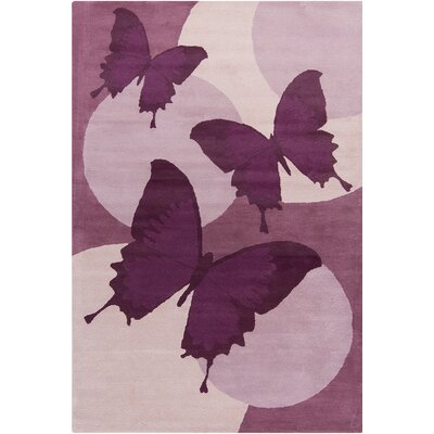 Belmont Hand Tufted Wool Purple/Lavender Area Rug