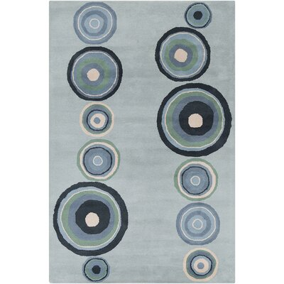 Millwood Hand Tufted Wool Blue Area Rug