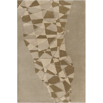 Millwood Hand Tufted Wool Brown/Beige Area Rug Rug Size: 5 x 76