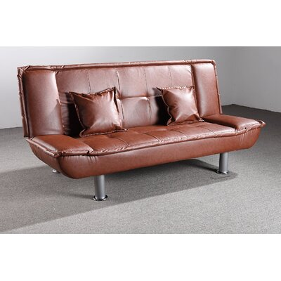 Lalani Modern Convertible Sofa Upholstery: Brown
