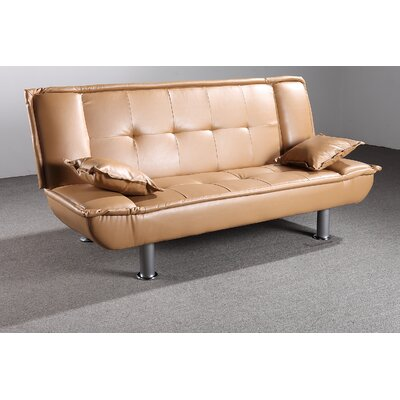 Lalani Modern Convertible Sofa Upholstery: Saddle