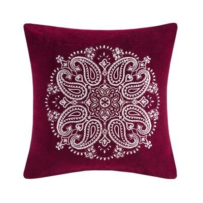 Elma Medallion Embroidered Cotton Throw Pillow