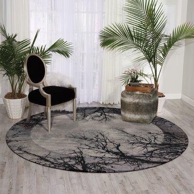 Antigua Black/Gray Area Rug Rug Size: 12' x 15'