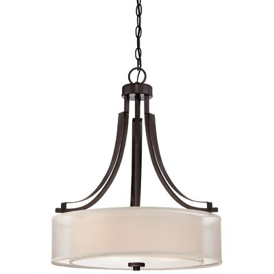 Bensenville 3-Light Metal Drum Pendant