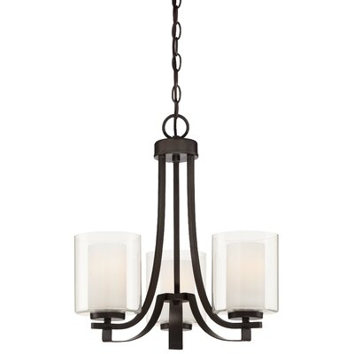 Bensenville 3-Light Shaded Candle-Style Chandelier