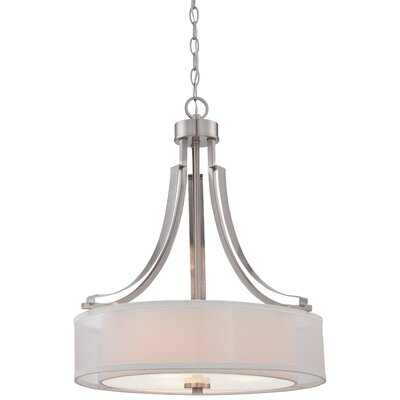 Bensenville 3-Light Drum Pendant
