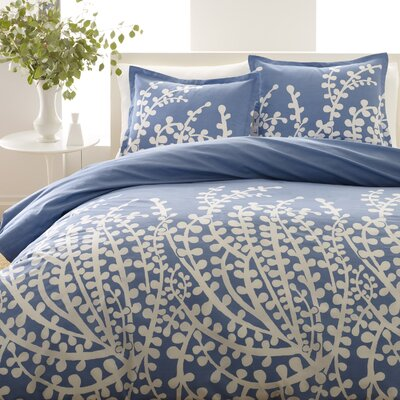 Kelen Duvet Cover Set Size: King, Color: Blue