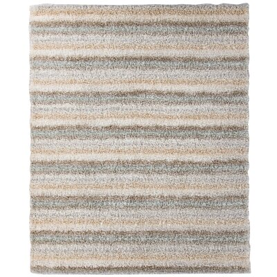 Messerly Gray/Brown Area Rug Rug Size: 5 x 7