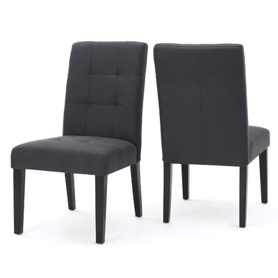 Trinity Place Side Chair Upholstery: Dark Charcoal