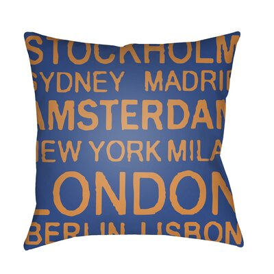 Alshain Indoor/Outdoor Throw Pillow Color: Blue/Orange